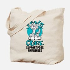 PCOS Paws for the Cure Tote Bag
