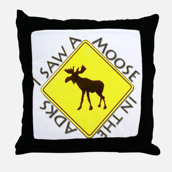 I saw a Moose in the Adironda Throw Pillow