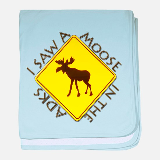 I saw a Moose in the Adironda Infant Blanket