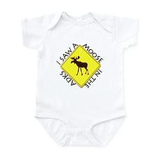 I saw a Moose in the Adironda Infant Bodysuit