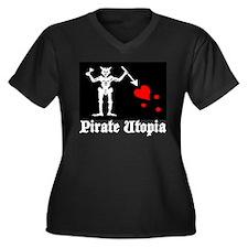 Pirate Utopia - Blackbeard (b Women's Plus Size V-