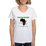 GREEN Women's V-Neck T-Shirt
