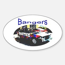 Banger Racing Sticker (Oval)