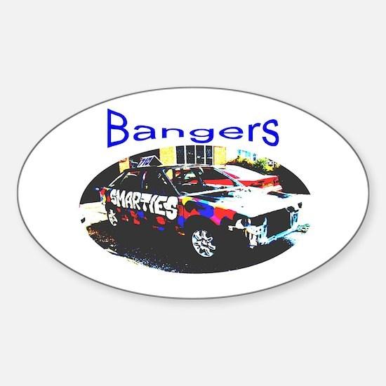 UK banger racing Sticker (Oval)