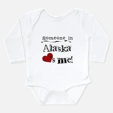 Alaska Loves Me Long Sleeve Infant Bodysuit