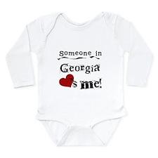 Someone in Georgia Long Sleeve Infant Bodysuit