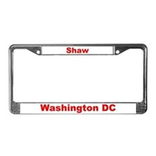 Shaw License Plate Frame