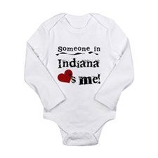 Someone in Indiana Long Sleeve Infant Bodysuit