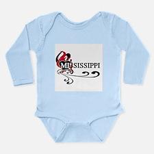Heart Mississippi Long Sleeve Infant Bodysuit