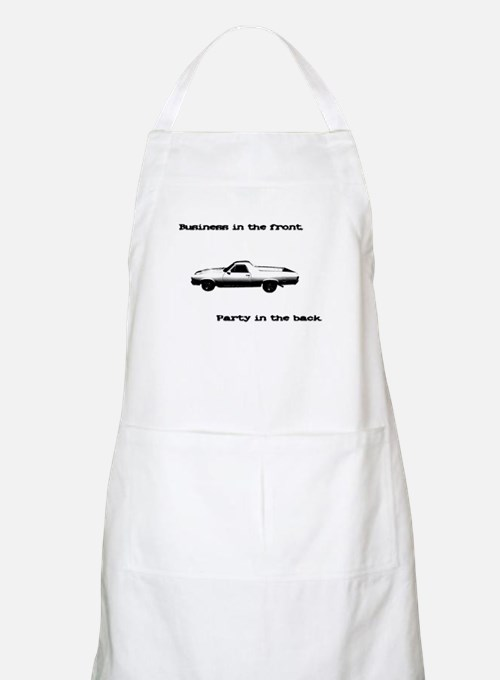 Business in the Front BBQ Apron