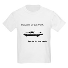 Business in the Front Kids T-Shirt