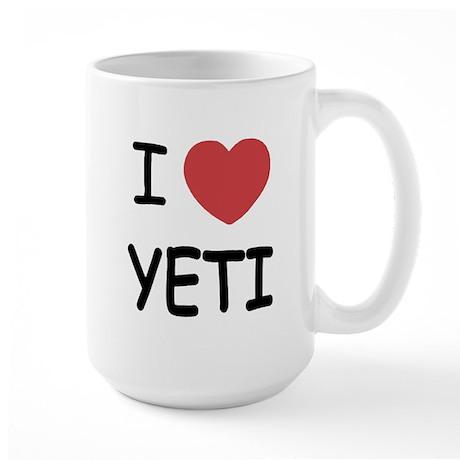 I heart yeti Large Mug