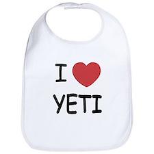 I heart yeti Bib