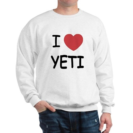 I heart yeti Sweatshirt