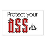 Protect Your ASSets Rectangle Sticker