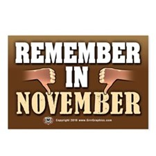 Remember in November Postcards (Package of 8)
