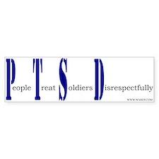 PTSD Bumper Bumper Sticker