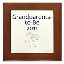 Grandparents-to-Be 2011 Framed Tile