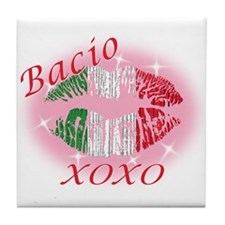 Italian kiss Tile Coaster