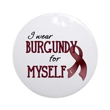 Wear Burgundy - Myself Ornament (Round)