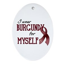 Wear Burgundy - Myself Ornament (Oval)