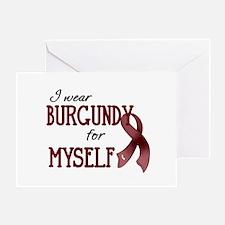 Wear Burgundy - Myself Greeting Card