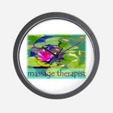 Massage Therapist / Waterlily Wall Clock
