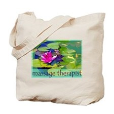 Massage Therapist / Waterlily Tote Bag