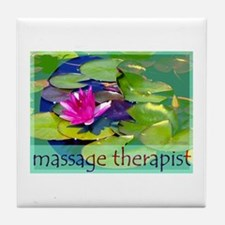 Massage Therapist / Waterlily Tile Coaster