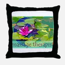 Massage Therapist / Waterlily Throw Pillow