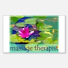 Massage Therapist / Waterlily Decal