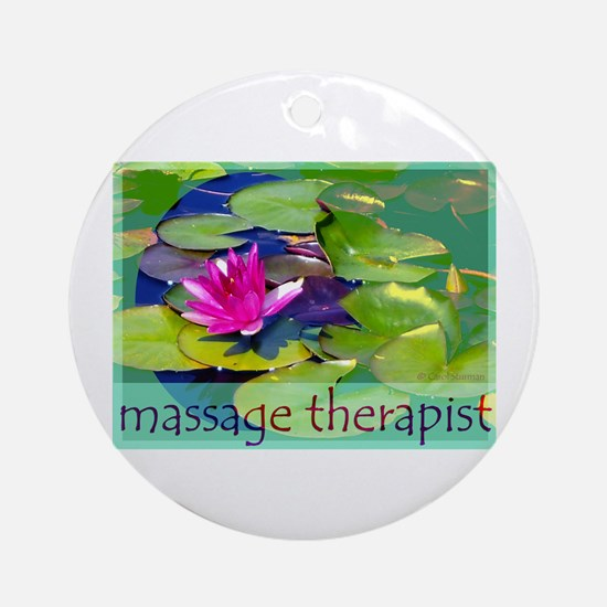 Massage Therapist / Waterlily Ornament (Round)