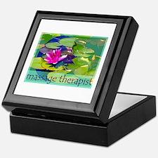 Massage Therapist / Waterlily Keepsake Box