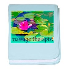 Massage Therapist / Waterlily baby blanket