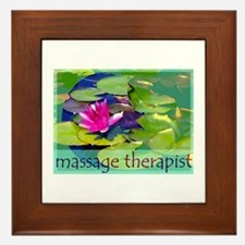 Massage Therapist / Waterlily Framed Tile