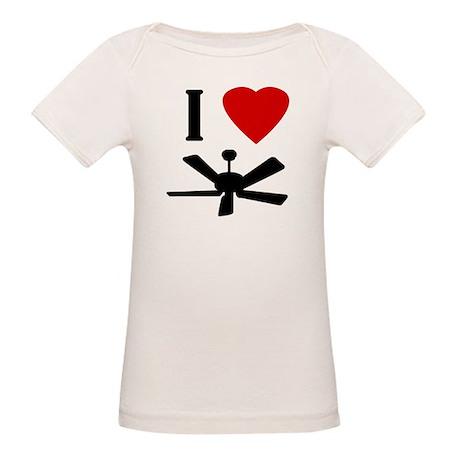 I Love Fans Organic Baby T-Shirt