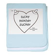 Luckymothersucker BW Infant Blanket