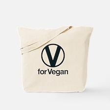 V for Vegan Tote Bag