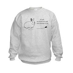 oh well... (bunnies chew cabl Sweatshirt