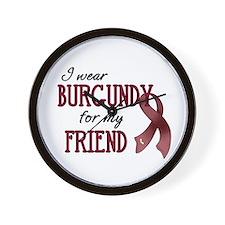 Wear Burgundy - Friend Wall Clock