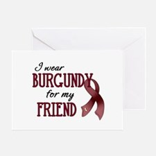Wear Burgundy - Friend Greeting Card