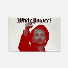 white power Rectangle Magnet