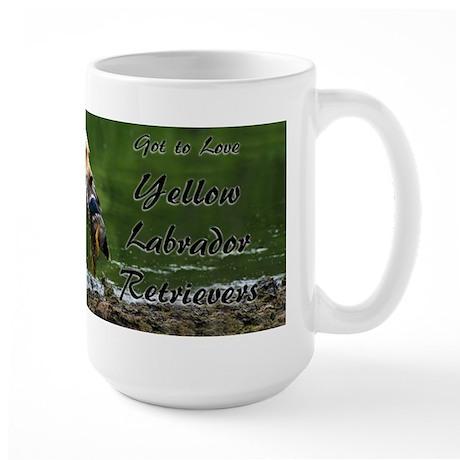 Yellow Labrador Retriever Large Mug