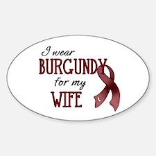 Wear Burgundy - Wife Decal