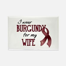 Wear Burgundy - Wife Rectangle Magnet