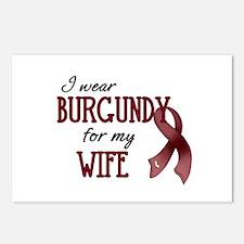 Wear Burgundy - Wife Postcards (Package of 8)