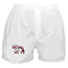 Wear Burgundy - Wife Boxer Shorts