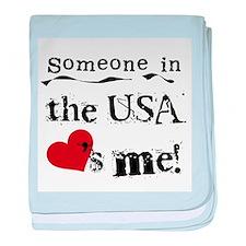 USA Loves Me Infant Blanket
