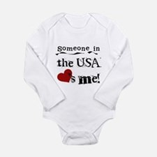 USA Loves Me Long Sleeve Infant Bodysuit