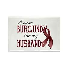 Wear Burgundy - Husband Rectangle Magnet